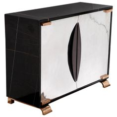 """""""Shield"""" Noir Doré Marble Cabinet by Achille Salvagni 