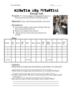 Worksheet: Kinetic Vs Potential Energy 2 | Of, As and .tyxgb76aj
