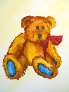 Teddy Bear Watercolor
