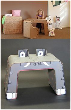 Kids cardboard furniture you can build, paint and draw on   Cardboard Guys