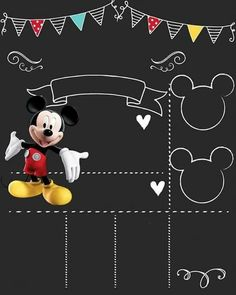 Cumple Theme Mickey, Fiesta Mickey Mouse, Mickey Mouse Birthday Invitations, Mickey Mouse Baby Shower, Mickey Birthday, Mickey Party, Mickey Mouse Clubhouse, Mickey Minnie Mouse, Mickey House