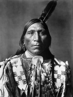 Photographic Print: Sioux Man Poster by Edward S. Curtis : 24x18in