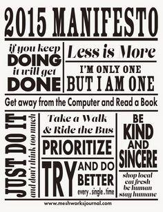Meshworks Journal: 2015 Manifesto