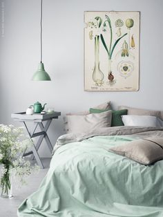 Decorating With Mint Bring The Outdoors In Bold Botanical Print And Green Walls