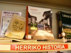 Legazpiri buruzko bilduma liburutegian: herriko historia|La colección local sobre Legazpi en la biblioteca