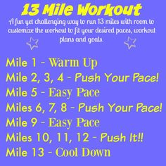 Training to run your fastest half marathon? Build both speed and endurance with this fun and challenging half marathon long run workout! Running On Treadmill, Running Workouts, Running Tips, Fun Workouts, Workout Exercises, Workout Ideas, Running Half Marathons, Half Marathon Training, Marathon Running