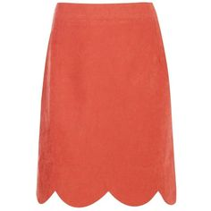 Boohoo Laola Scalloped Hem Woven A Line Skirt | Boohoo (1.470 RUB) ❤ liked on Polyvore featuring skirts, red midi skirt, knee length a line skirt, body con skirt, knee length pleated skirt and pleated skirt