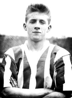 Denis Law at 17, playing for Huddersfield Town