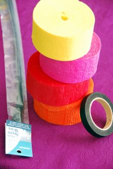 how to make mexican crepe paper flowers