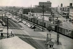 Downtown Hammond in the 1950s