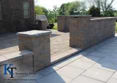 Nicolock Adobe Blend Colonial Wall Block, Pewter Slabs. #kentuckytwist, #nicolock, #hardscapes, #backyard, #patio, #outdoor Backyard Patio, Pewter, Colonial, Adobe, Outdoor Decor, Wall, Projects, Tin, Log Projects