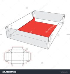 Tray Box With Blueprint Layout Stock Vector Illustration 170578451 : Shutterstock