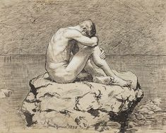 """""""Thoma Loneliness"""" by Hans Thoma - cyfrowe.mnw.art.pl."""
