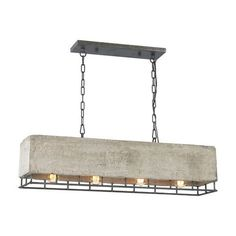 14323/4 | Brocca 4 Light Chandelier In Silverdust Iron - 14323/4