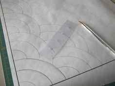 Someone asked about a tutorial for making the Baptist Fan Pattern for hand quilting. It seems pretty complicated until you break it down, th...