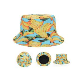 Fashion Yellow Banana Fruit Bucket Hat Outdoor Sunhat Travel Fishing Cap  Goldtop  Goldtop  Bucket bc687a81eed