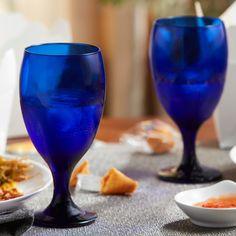 Blue Wine Glasses, Iced Tea Glasses, Colorful Cocktails, Fun Drinks, Pineapple Lemonade, Highball Glass, Wine Glass Set, 49er, Drinking Glass