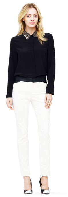 Cierra Embellished Collar Top