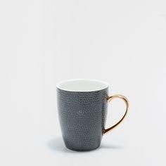 Porcelain mug with golden handle - Mugs - Tableware | Zara Home United States of America