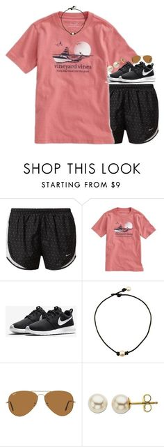 """summer please"" by gourney ❤ liked on Polyvore featuring NIKE, Vineyard Vines, Ray-Ban, Lord & Taylor, women's clothing, women, female, woman, misses and juniors www.womenswatchhouse.com"