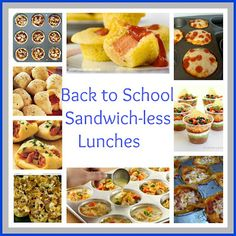 Some great lunch ideas. many can be prepared and frozen.  Great for toddler lunches or snacks at home as well as school/on the go meals.