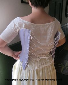 Two Nerdy History Girls: How to Lace Your Stays by Yourself, c. 1770