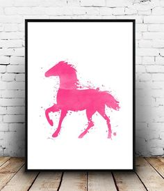 Horse Painting Watercolor Horse Printable Wall by PaperStormPrints