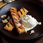 www.gaea.gr Rum-Spiked Grilled Pineapple with Toasted Coconut