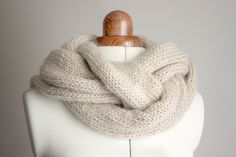 handknit braided cowl (for the white mohair??)