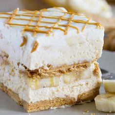 No bake!!! Peanut Butter Banana Icebox Cake
