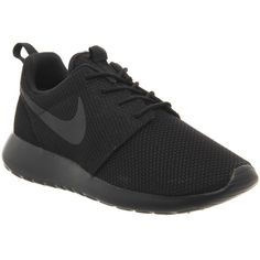 Nike Roshe Run Trainers (125 NZD) ❤ liked on Polyvore featuring shoes,  sneakers, black mono m, trainers, unisex sports, lightweight shoes,  breathable shoes ... 04b14c3ff5