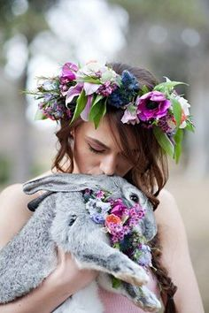 Ostara is the pagan festival of the Spring - or Vernal - Equinox. Beltane, Foto Fantasy, Corona Floral, Vernal Equinox, Samhain, Spring Time, Her Hair, Inspiration, Fantasy Photography