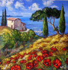 Discover great art by contemporary artist Stéphane EPIS. Browse artworks, buy original art or high end prints. Landscape Art, Landscape Paintings, Canvas And Cocktails, Images D'art, Modern Impressionism, Art Original, Gif Pictures, Acrylic Canvas, Felt Art