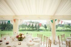 bunting around marquee