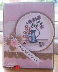 Jug & Vase Delight from the Floral Delight Too range at Ladybug Crafts Ink Ladybug Crafts, Wishes For You, Challenge Me, New You, Cardmaking, Paper Crafts, Ink, Frame, Floral