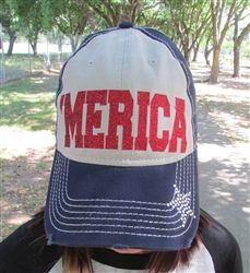 Pink Armadillos 'Merica Glitter Cap MER/CBB - Only $21.95! :: Follow #OutbackWesternWear for more great styles!