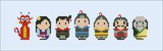 Mulan - Mini People - Pattern by CloudsFactory