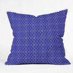 Hadley Hutton Lattice Pieces Blue Throw Pillow | DENY Designs Home Accessories