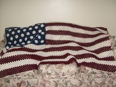 Free Crochet Quilt Afghan Patterns | AMERICAN FLAG CROCHET AFGHAN | Crochet For Beginners