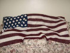 American Flag Afghan Pattern