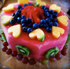 Healthy Birthday Cake decorating Ideas