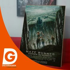 Póster de Cinema Original Maze Runner version cinemas de Brasil. Compralo DecoraGeek.com