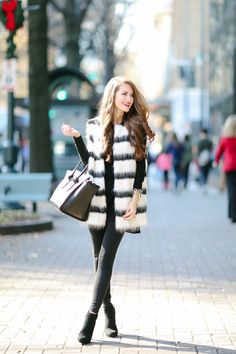 Black & White Holiday Outfit