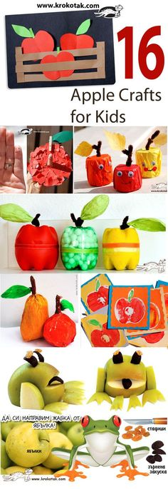 16 Apple crafts for kids