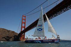 Scottish Clipper passing under Golden Gate Bridge April 2012
