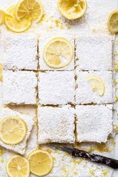 These Classic Lemon Bars feature a buttery crust topped with a tangy and sweet lemon filling. Easy to make and delicious!