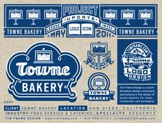 Logo, icon, bakery, cake, skyline, banner