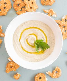Try this creamy, rustic White Bean Dip (a.k.a. Italian Hummus) from WatchLearnEat.com - perfect for sharing!
