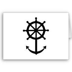 Steering wheel anchor card