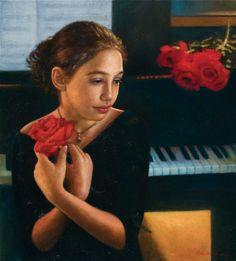 Los niños en el arte | Odysseas Oikonomou 1967 | pintor retrato griego-albanés Nacido
